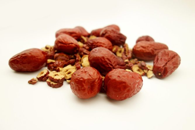 Jujubes Chinese dates heal the lungs and help body constitution