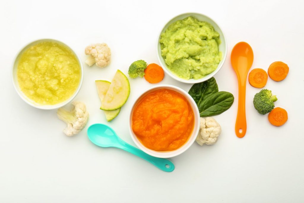 Healthy home made baby food