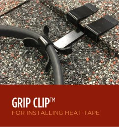 grip clips for ice dam heat tape [ 900 x 898 Pixel ]
