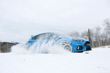 Drivers behind the wheel of an all-new 2016 Focus RS will be able to dominate the elements with a first of its kind manufacturer certified winter tire and wheel option.