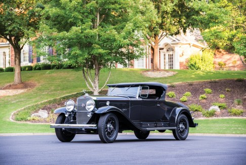 @1930 Cadillac V-16 Roadster by Fleetwood-black - 6