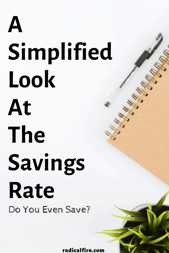 a simplified look at the savings rate