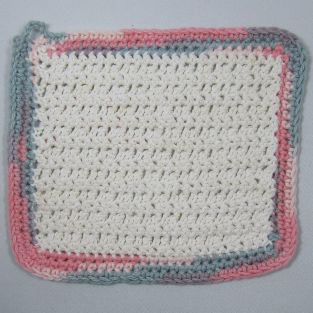 Bubblegum White Rustic Crochet Cloth