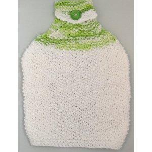 Green white bottom Knit Towel