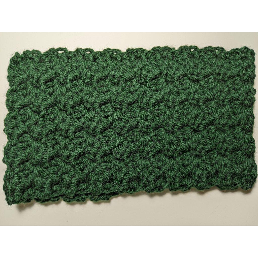 Dark Green Chunky Acrylic Crochet Cowl