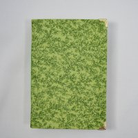 Green Plant fabric covered memory journal