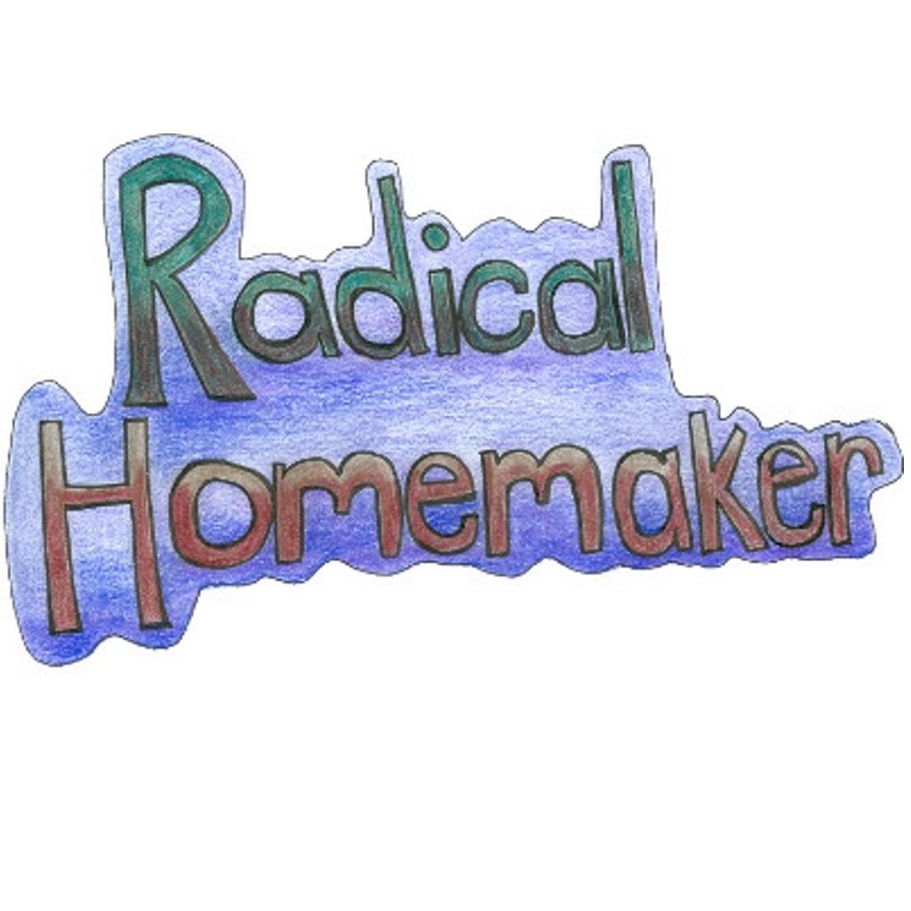 Radical Homemaker logo squared, green, blue and purple