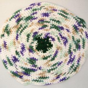 Green Purple white round cloth