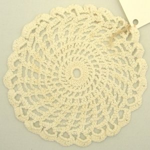 white doily crochet from cotton