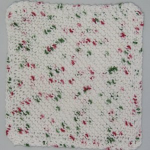 White with Red Green Dots Cloth