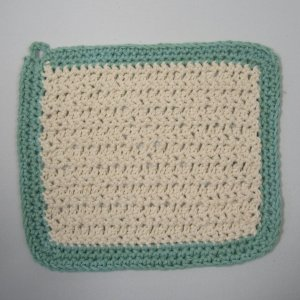 white_with_teal_border_rustic_crochet_cloth