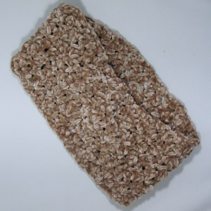 Velvet Tan Crochet Cowl 24in