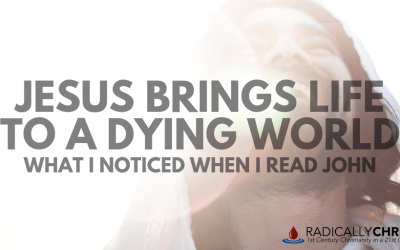 Jesus Brings Life to a Dying World – What I Noticed When I Read John