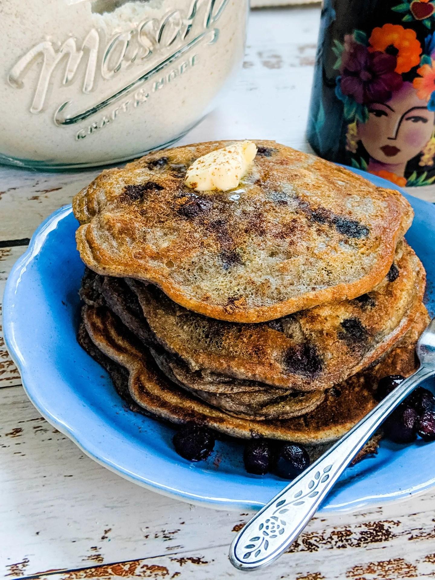blueberry walnut pancakes with protein pancake mix recipe
