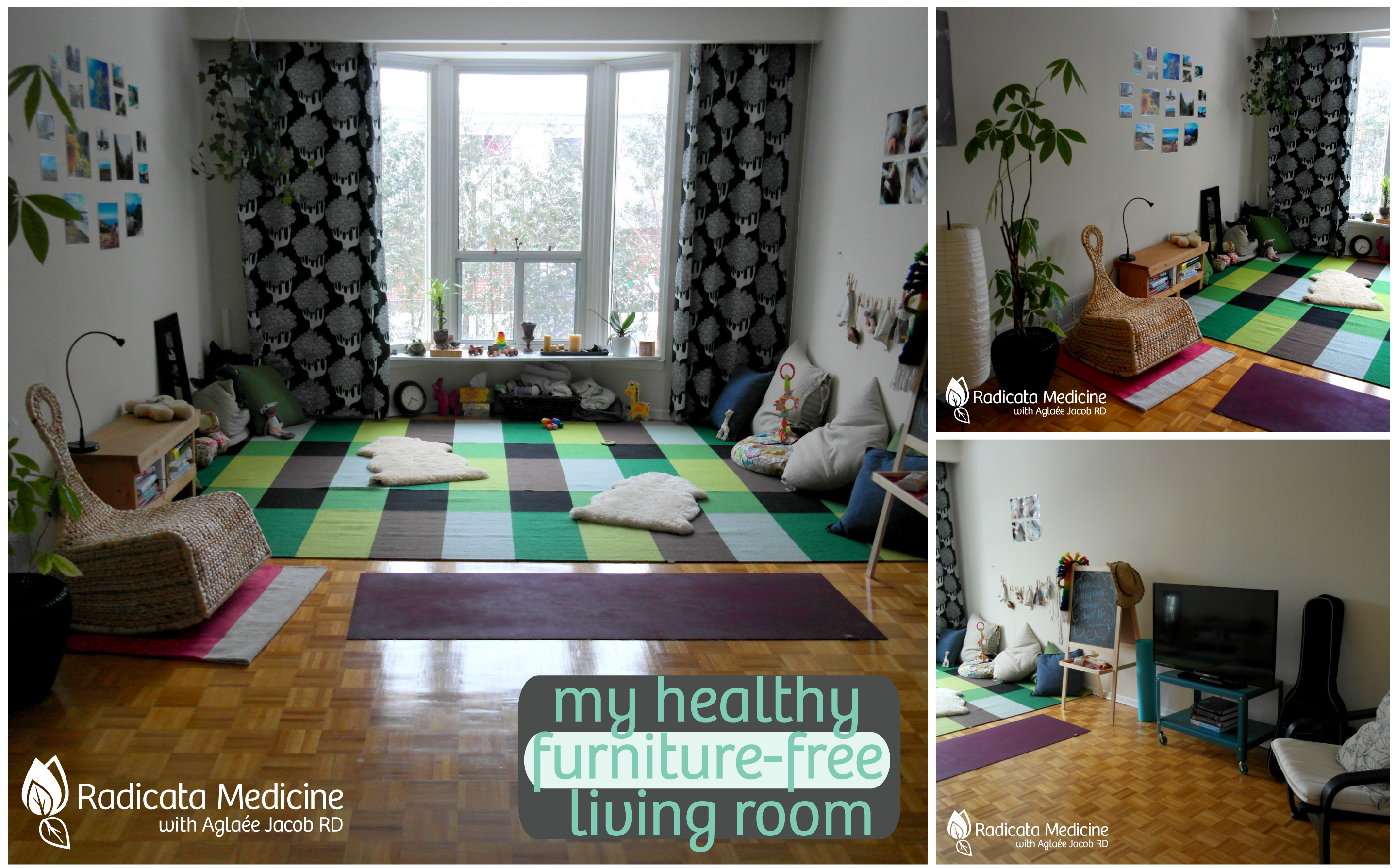My healthy furniturefree living room yes a living room