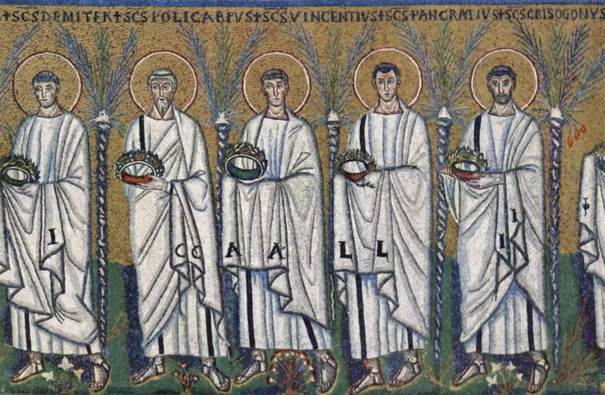 Mosaico ravennate del periodo Tardoantico.