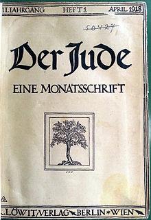 """Copertina della rivista """"Der Jude""""."""