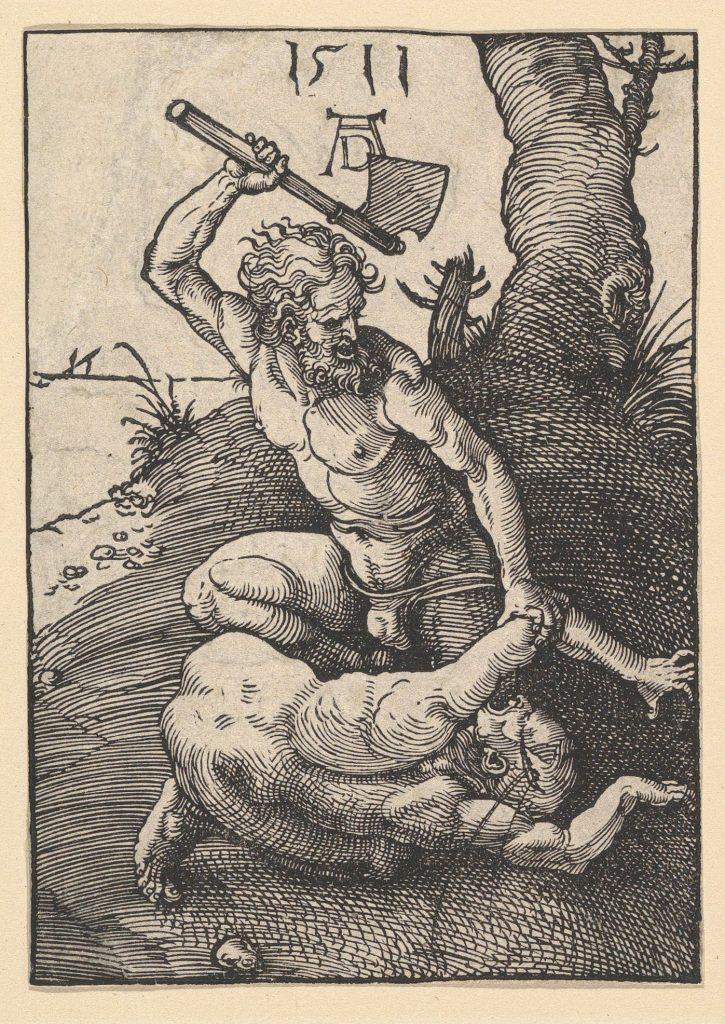 Caino e Abele interpretati dall'incisore Albrecht Dürer (1511)