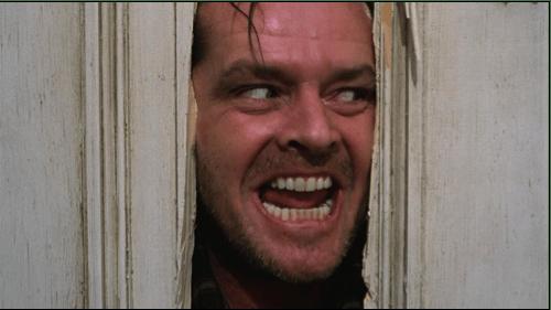 Jack Nicholson nella scena più celebre del film