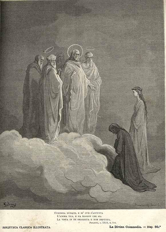 Gustave Doré, illustrazione di Paradiso XXVI