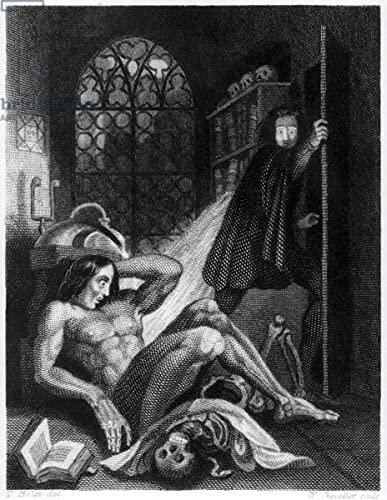 Illustrazione tratta dall'edizione di Frankenstein del 1831. Immagine reperibile a