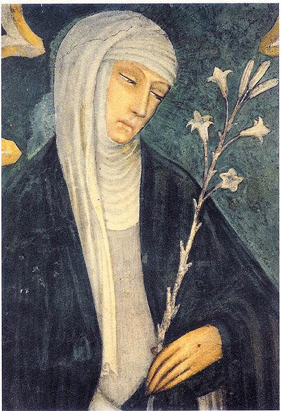 Caterina da Siena affrescata da Andrea Vanni (Basilica di San Domenico, Siena)
