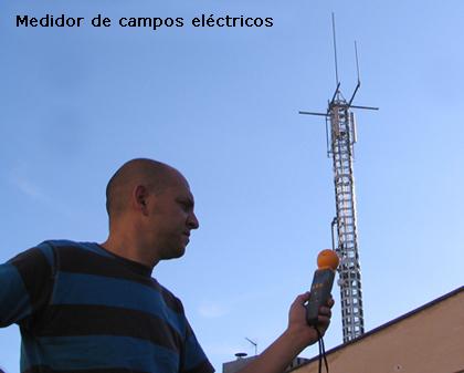 Medidor de campos electricos