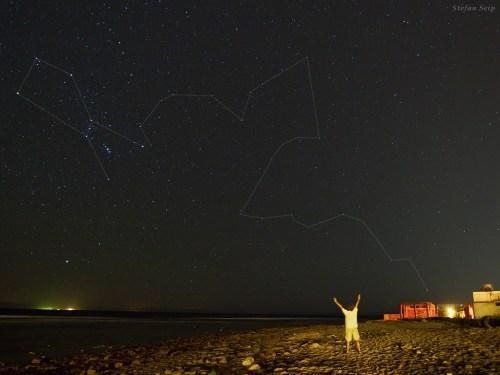 Constellations Orion et Eridanus vu au Mont Sinaï