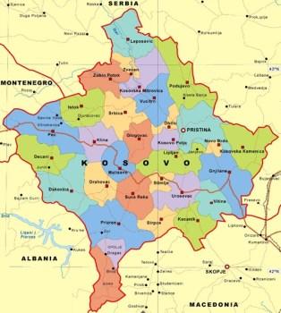 kosova harta politike