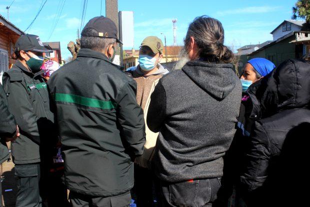 En la foto, Auka Castro, werken (vocero) de los once comuneros mapuche que se encuentran hace 51 días en huelga de hambre en la cárcel de Lebu. Foto: Julio César Parra.