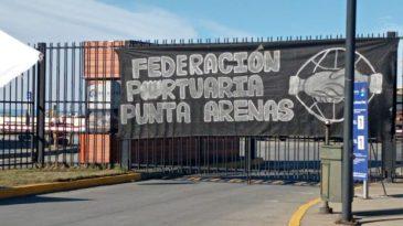 Paro portuario en la ciudad de Punta Arenas. Foto: Federación Portuaria Punta Arenas.