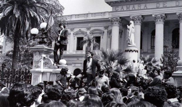 Luis Valenzuela, dirigente de la FESES del Instituto Nacional y luego estudiante de Economía de la Universidad de Chile. Permanece desaparecido desde 1974. (Imagen colección de Punto Final)