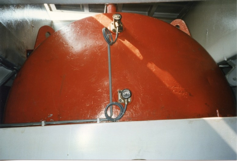 One of the fuel tanks