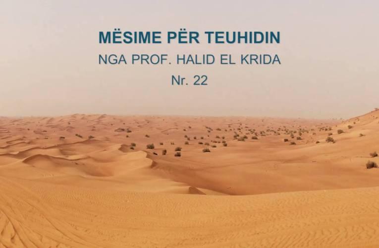 TEUHIDI 22 Prof. Halid El Krida