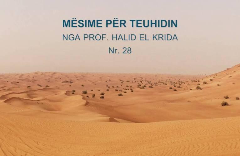 TEUHIDI 28 Prof. Halid El Krida