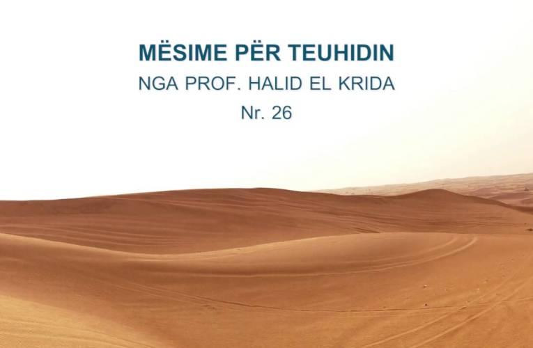 TEUHIDI 26 Prof. Halid El Krida