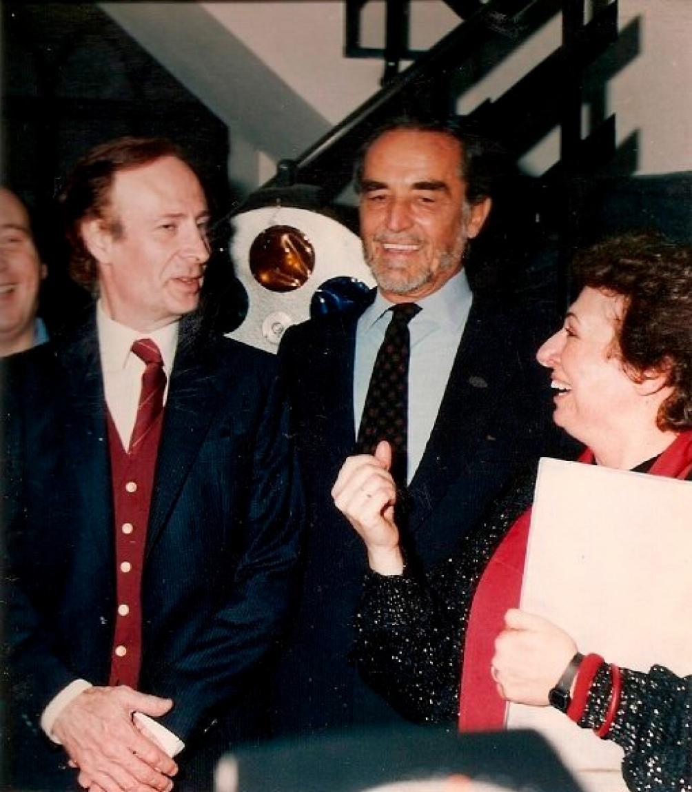 Gassman, con Gianni Lunadei y Lidia Catalano. (Gentileza Complejo Teatral Buenos Aires).