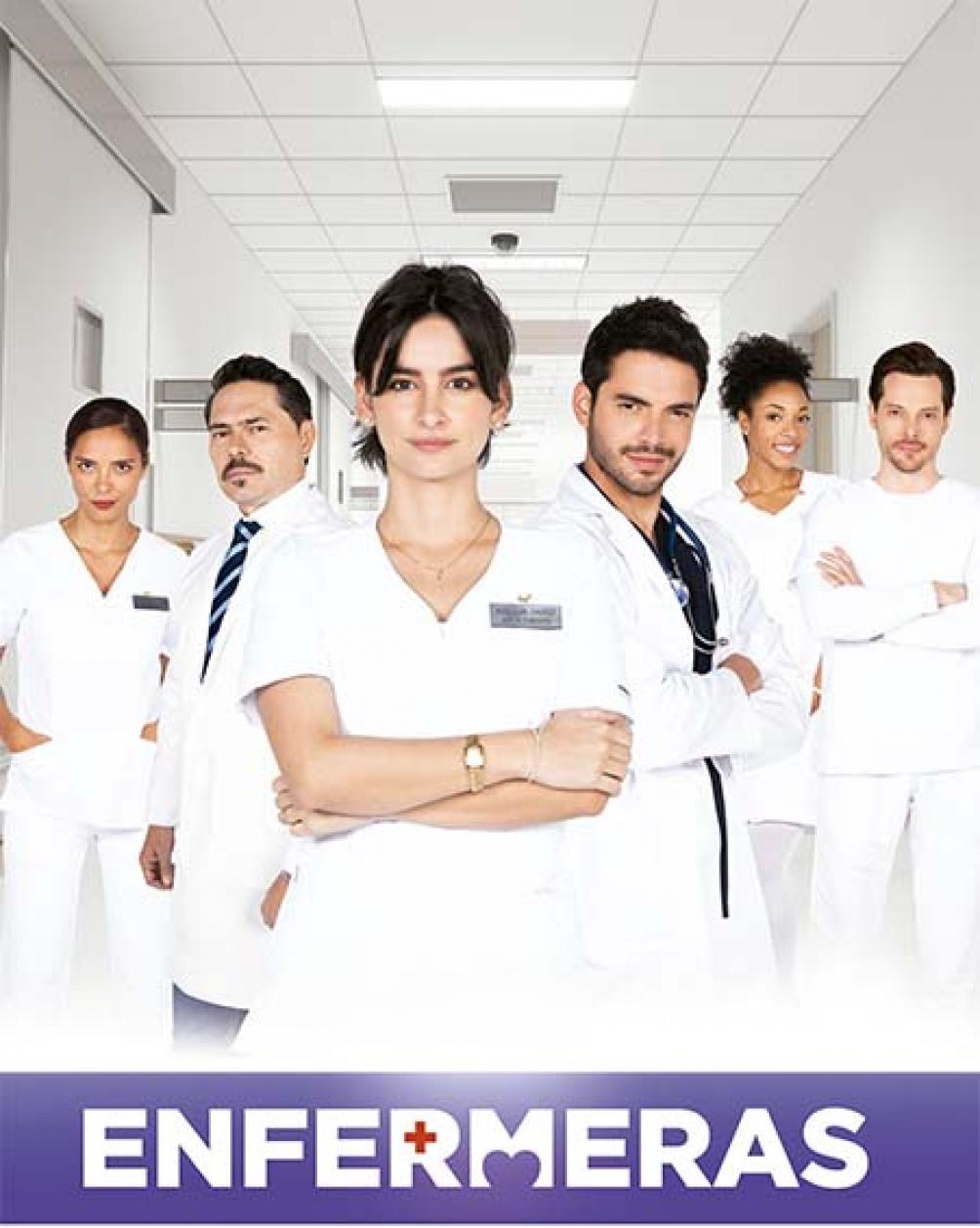 """""""Enfermeras"""", una historia dramática de Telemundo (Canal 331 de Cablevisión, 231 de DirecTv, y 308 de Telecentro)."""