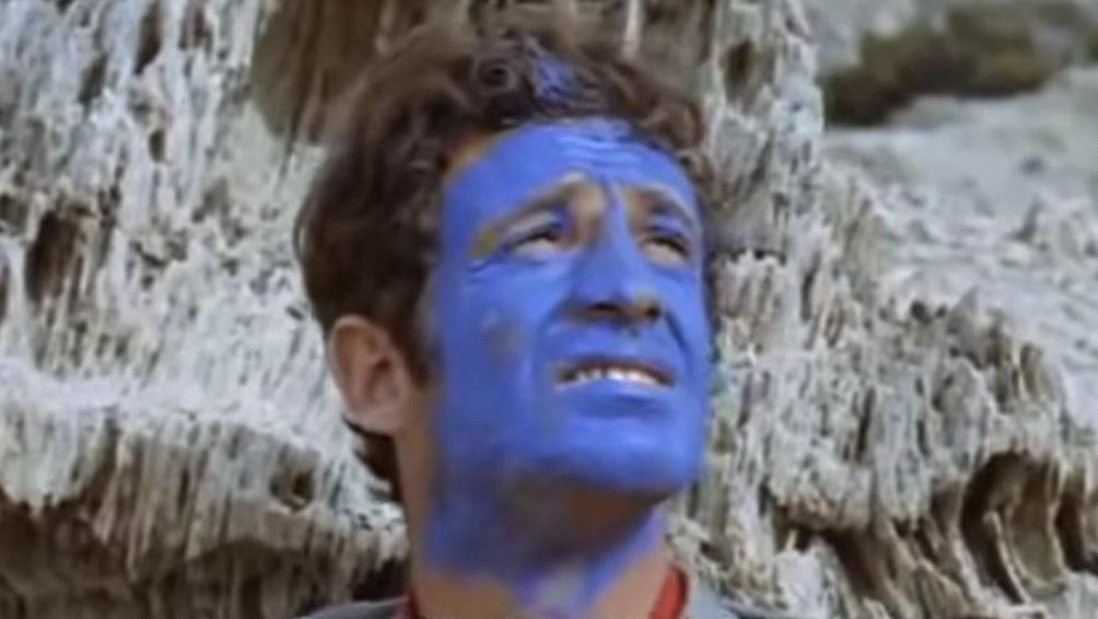 """Pintado de azul, en """"Pierrot el loco"""" (1965), de Jean-Luc Godard."""