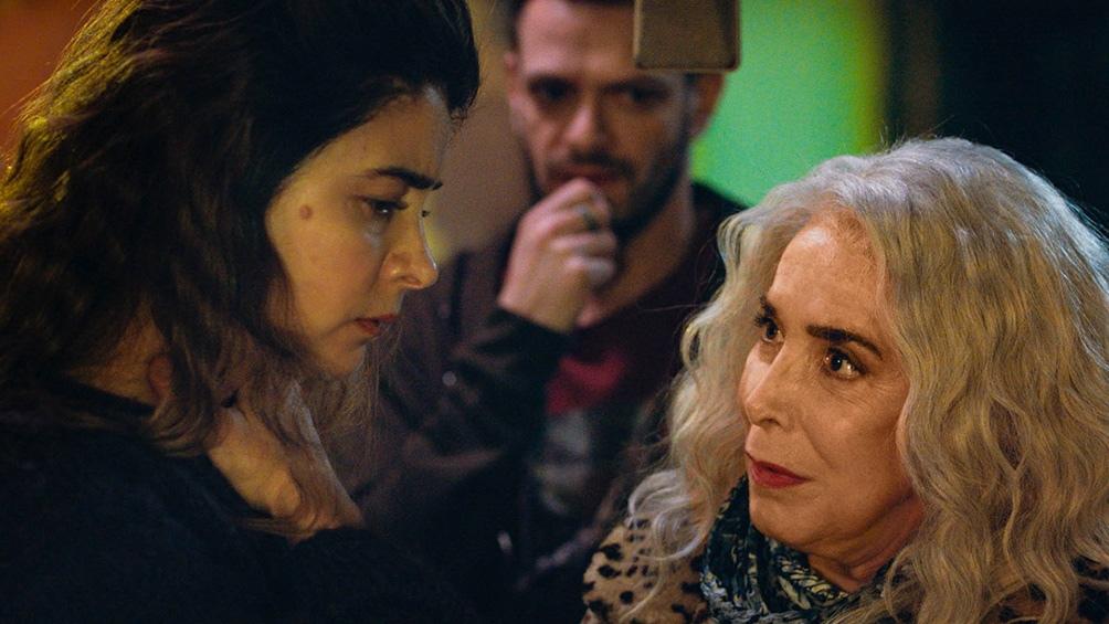 Rivas con Mirta Busnelli (Foto: Rei Cine)