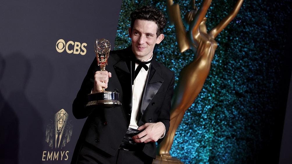 """Jason Sudeikis, se impuso en """"Mejor actor principal de comedia"""" por la serie """"Ted Lasso""""."""