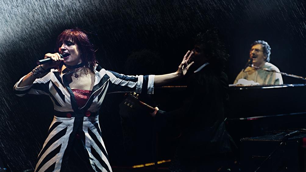 Hilda Lizarazu, cuando cantan}ba junto a Charly García (Foto: Gentileza Diego Ortiz Mugica)
