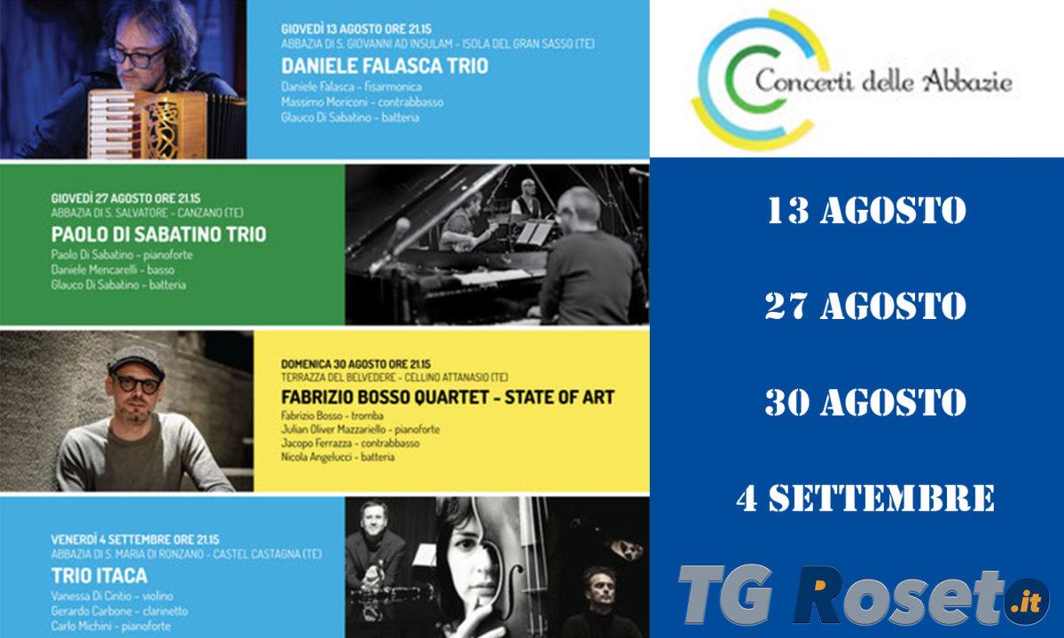 Teramo, Concerti delle Abbazie, Daniele Falasca, Bosso, Di Sabatino, Trio Itaca