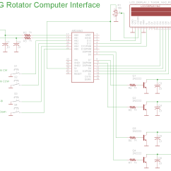 Antenna Rotor Wiring Diagram Tv Rotator Remote Ceiling Fan Arduino Computer Interface And Controller Radio Artisan Basic Schematic