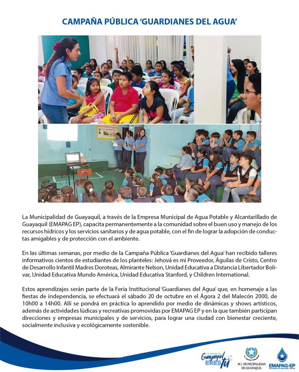 CAMPAÑA PÚBLICA 'GUARDIANES DEL AGUA'
