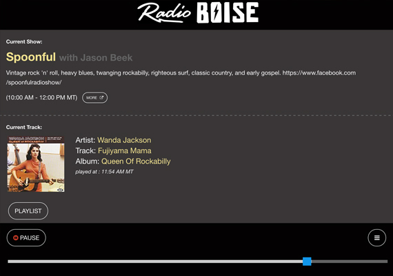 Listen to Radio Boise's new online player