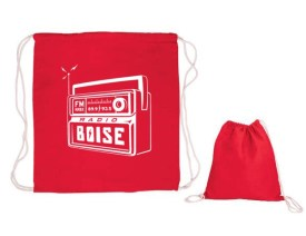 2019 Radio Boise logo cinch drawstring cotton bag