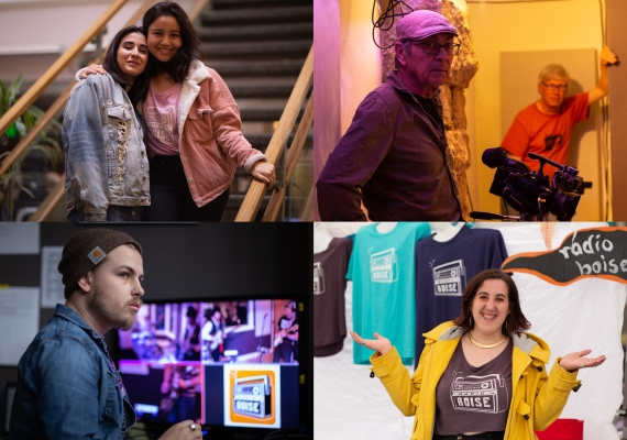 Collage of 2019 Radio Boise volunteers