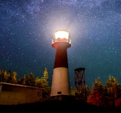 Lighthouse and stars