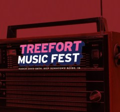 Volunteer for Radio Boise for Radioland during Treefort Music Festival 2017